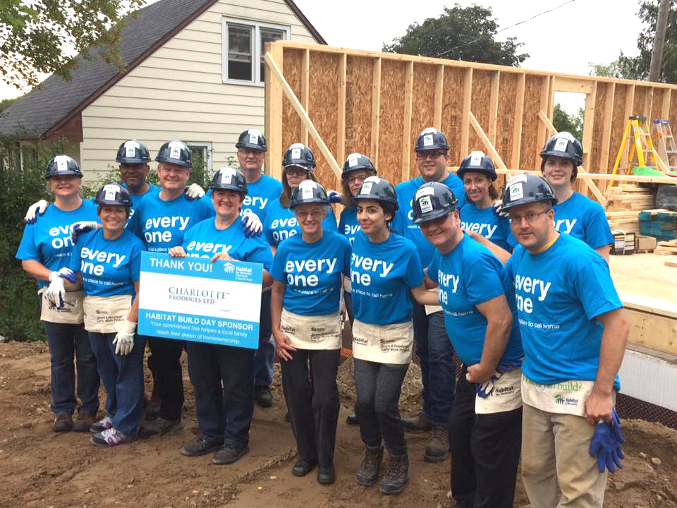The Charlotte Team does a Habitat Build Day!