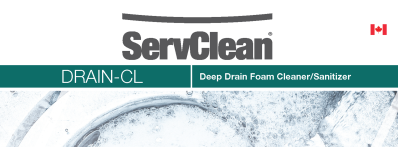 ServClean Drain CL Deep Drain Foam Cleaner/Sanitizer